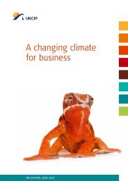 A changing climate for business - ukcip