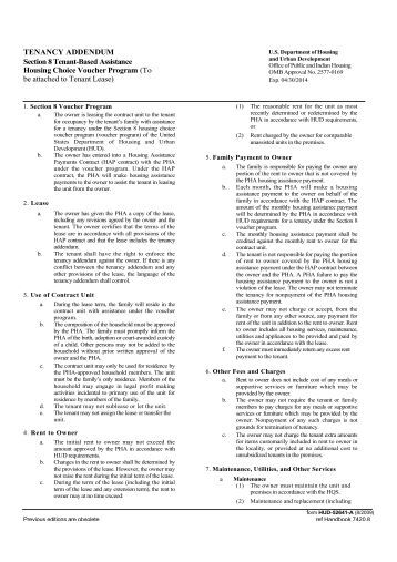 Project Rental Assistance Contract (Prac) - Hud