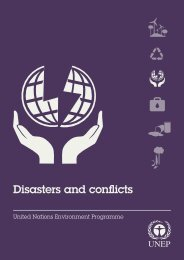 Disasters and conflicts - UNEP