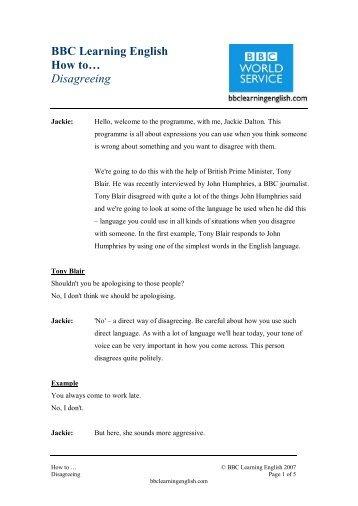 howto_discuss_disagreeing_script for pdf - BBC