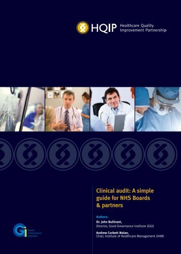 Clinical audit: A simple guide for NHS Boards & partners - HQIP