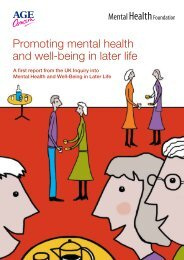 Promoting mental health and well-being in later life