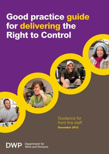 Good Practice guide for delivering the Right to Control - Office for ...