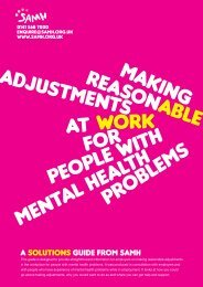 9. SAMH Making Reasonable Adjustments in the - Health at Work