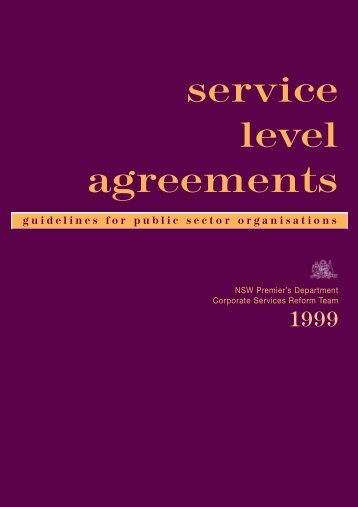 service level agreements - NSW Department of Premier and Cabinet ...