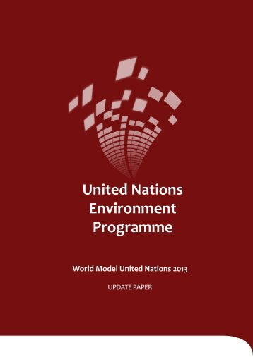 UNEP Update Paper - World Model United Nations