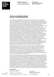 Vorwort Katalog Ernest Biéler (pdf) - Kunstmuseum Bern