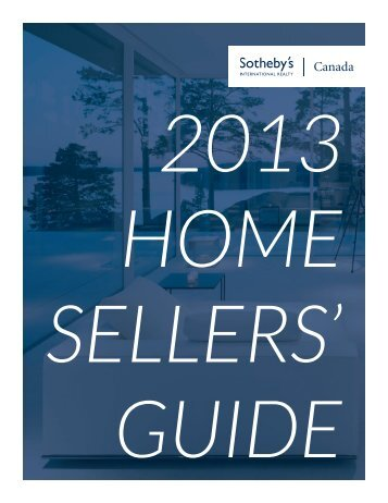 Download your 2013 Sotheby's Home Seller's Guide
