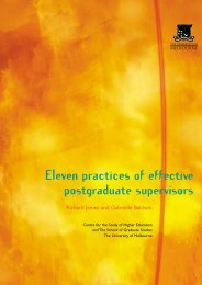 Eleven Practices of Effective Postgraduate Supervisors