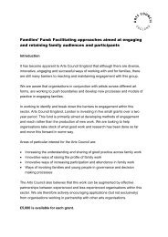 Families' Fund: Facilitating approaches aimed at engaging and ...