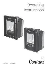 Operating instructions - Contura stoves