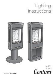 Lighting Instructions - Contura stoves