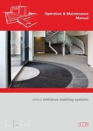 Operation & Maintenance Manual - EMCO Entrance Matting ...