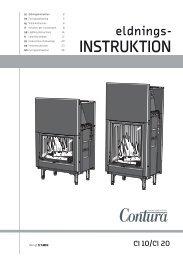 INSTRUKTION - Contura stoves