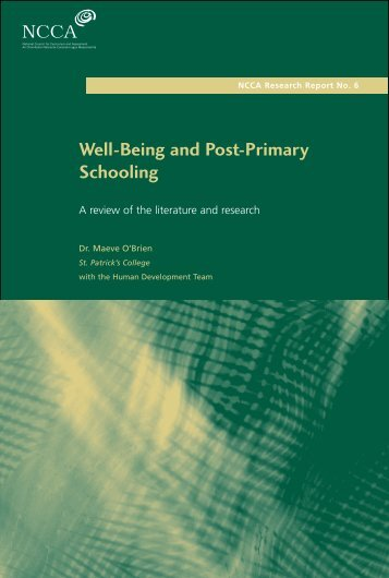 Well-Being and Post-Primary Schooling - National Council for ...
