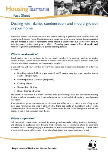 Dealing with damp, condensation and mould - Department of Health ...