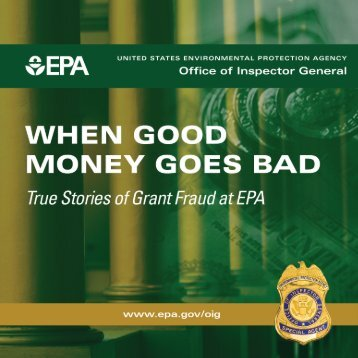 When Good Money Goes Bad - US Environmental Protection Agency