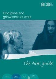 Discipline and grievances at work - Acas