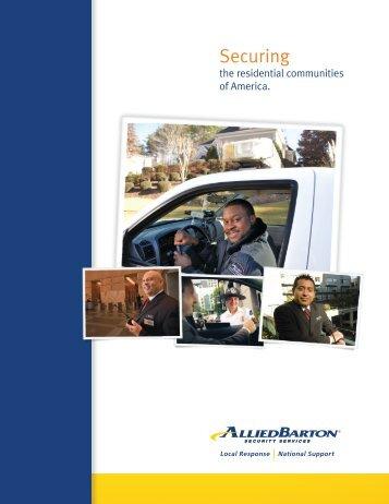 Residential Communities Brochure - AlliedBarton Security Services