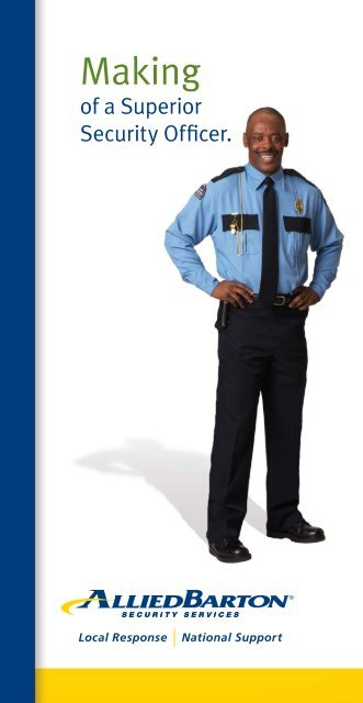Making Of A Superior Security Officer Brochure Alliedbarton