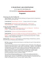 Provisorisches Programm Engadiner Kulturtage ... - KUBUS-SILS.CH