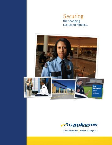 Shopping Centers Brochure - AlliedBarton Security Services