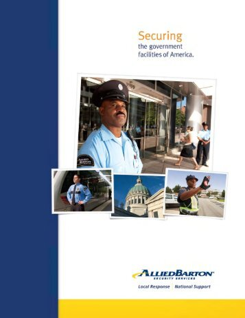 Government Services Brochure - AlliedBarton Security Services