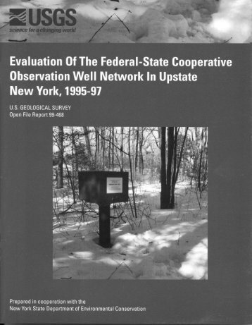 Evaluation of Federal-State Cooperative Observation Well Network ...