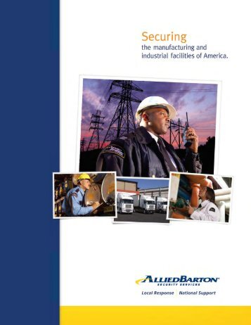 Manufacturing & Industrial Brochure - AlliedBarton Security Services