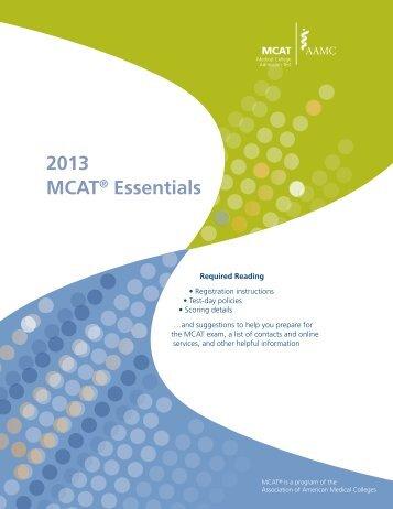 2013 MCAT® Essentials - AAMC