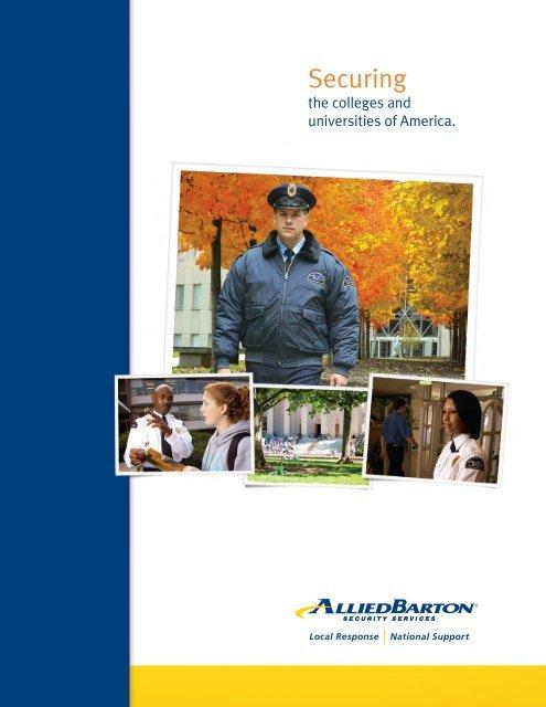 Higher Education Brochure Alliedbarton Security Services