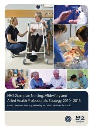 NHS Grampian Nursing, Midwifery and Allied Health Professionals ...