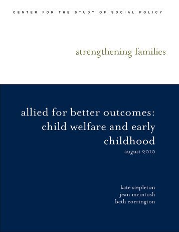 allied for better outcomes: child welfare and early childhood