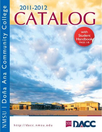 2011-12 Catalog - Dona Ana Community College - New Mexico ...