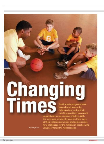 Youth sports programs have been altered forever ... - Darkness to Light