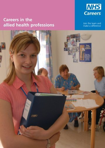 Careers in the allied health professions - NHS Careers