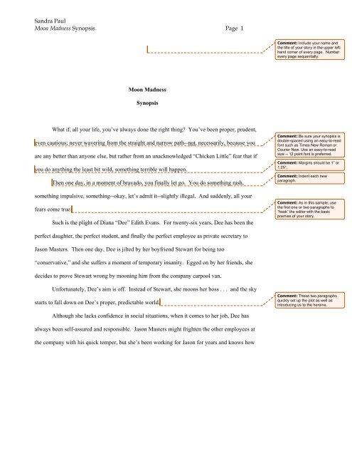 Sample Synopsis - Harlequin.com