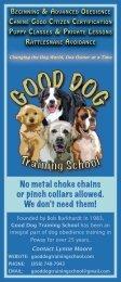 No metal choke chains or pinch collars allowed - Good Dog Training ...