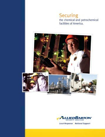 Chemical & Petrochemical Brochure - AlliedBarton Security Services
