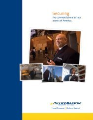 Commercial Real Estate Brochure - AlliedBarton Security Services