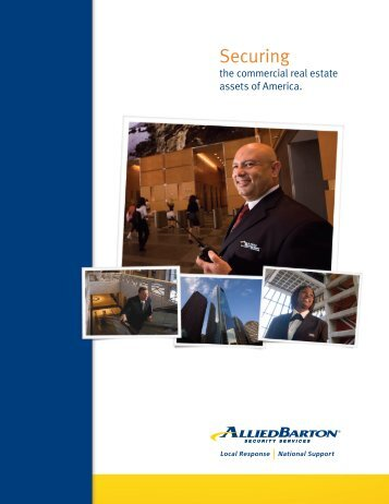 Commercial Real Estate Brochure - AlliedBarton Security Services