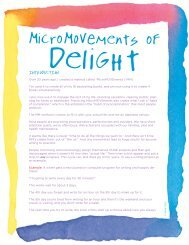MicroMOVEments of Delight: Tiny Movements = Huge Results - Sark