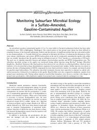 Monitoring Subsurface Microbial Ecology in a Sulfate-Amended ...