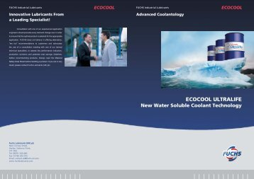 Amended Ecocool Ultralife190:New Brochure - FUCHS Lubricants
