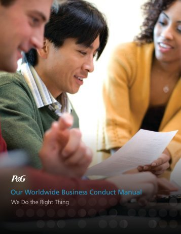 Our Worldwide Business Conduct Manual - Procter & Gamble