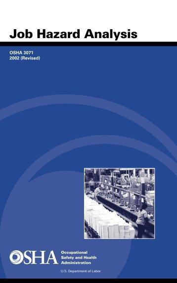 Job Hazard Analysis - OSHA
