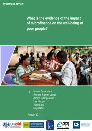What is the evidence of the impact of microfinance on the well ... - DFID