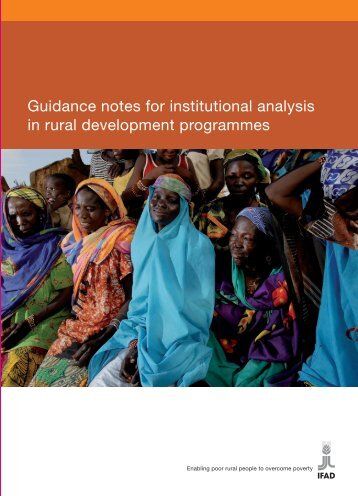 Guidance notes for institutional analysis in rural development ... - IFAD