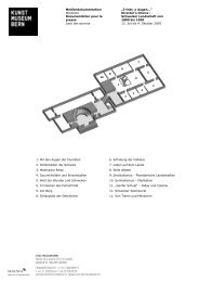 Director's Choice - Kunstmuseum Bern