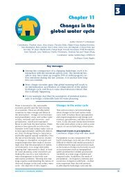 Chapter 11 Changes in the global water cycle - Unesco